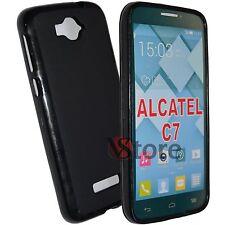 Cover Custodia Per Alcatel C7 One Touch Pop 7040D Gel Nero + Pellicola