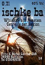 Ischkeba Whiskey Whisky Lebenswasser 0,35l 40 % hergestellt aus Getreide der Reg