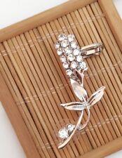 1pc Wedding Bridal Jewelry Silver Tulip Left Ear Cuff Clip on Earring for Women