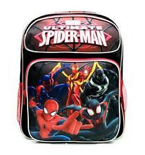 "Spiderman Medium Backpack School Bag 14"" Licensed by Marvel- Black New with Tags"
