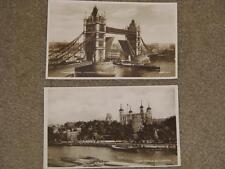 RPPC`s, Tower Bridge, London & Towers of London unused & used vintage cards