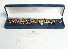 The Ultimate Disney Classic 37-Character Charm Bracelet 24K Gold Plated