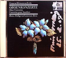 Heinz HOLLIGER Signed GRAUN KREBS TELEMANN Oboe Concertos CD Camerata Bern