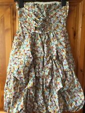 DITSY BABYDOLL STRAPLESS DRESS,by Heaven 100% COTTON, SIZE 10, NEW
