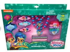 Shimmer and Shine Girl's Hair Accessory Gift Set with Necklace and Bracelet 18 p