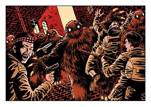 Doctor Who Art Print The Yetis in Covent Garden by Scott Gray