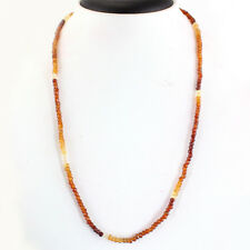 70.00 Cts Natural 20 Inches Hessonite Garnet Round Cut Beads Necklace Gemstone