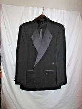Mens Black Tuxedo Jacket Pants SZ 44R Satin Trim Gently Worn SR