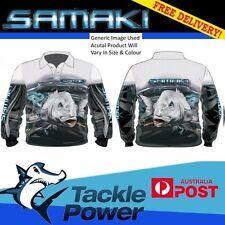 Samaki Fishing Shirt Long Sleeve Adult Barra Mangrove Jack Cod Mud Crab Jew Snapper Small