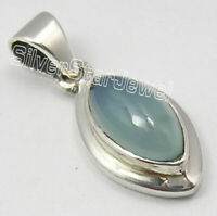 Aqua Chalcedony 2.0 Ct Pendant 2.4 Grams Women Wholesale Jewelry Sterling Silver