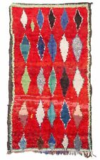 Moroccan Berber rug Boucherouite 225 x 150 handmade carpet wool
