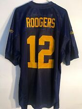 Reebok Authentic NFL Jersey Packers Aaron Rogers Navy Throwback sz 56