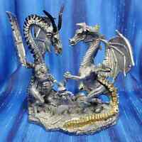 Make a Wish Dragon Couple Pewter Figurine Rawcliffe US Made Bob Olley *NEW*