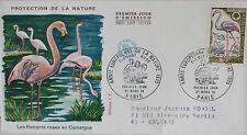 ENVELOPPE PREMIER JOUR - 9 x 16,5 cm - 1970 - FLAMANTS ROSES DE CAMARGUE