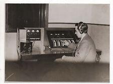 PHOTO Vintage - KEYSTONE London Standard Standardiste Casque Ecoute Métier 1930