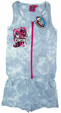 New girls licensed Monster High playsuit outfit overall camouflage grey & pink