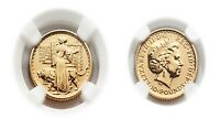 Great Britain Britannia 2001 (Una and the Lion) 10 Pounds 1/10 oz Gold NGC MS-66