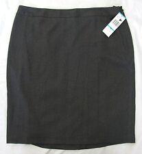 NWT Nine West Skirt 16 Autumn Paradise Espresso Gray Black L Knee Length Suit