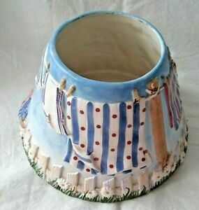 Yankee Candle Laundry Day Red, White, & Blue USA Large Jar Candle Ceramic Shade