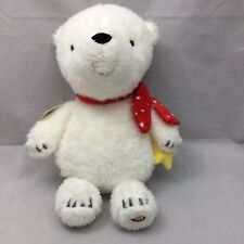 "Little Wish Bear Sound White Red Scarf Yellow Star Hallmark Plush 14"" Toy Lovey"