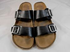 Mad Love Womens Sandals Size 8.5 Double Strap Buckle Adjustment Black and Brown
