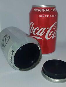 Coke Stash Can 30 Dram Pop Top Smellproof Secret Hidden Safe Airtight Coca Cola