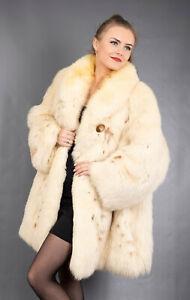 380 GLAMOROUS REAL BLUE FOX COAT LUXURY FUR JACKET SWINGER BEAUTIFUL SIZE 4XL
