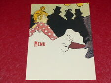 Menu/Illustration Toulouse Lautrec Lovely Reprint,New Old Stock,60's 18x 24 (1)