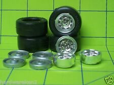 TIRES - 9 hole 80's STYLE RIMS with 4 RAISED LETTER GOODYEAR RACING TIRES - 1/24