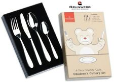 Windsor 4 Piece Child Cutlery Gift Box Set Stainless Steel Grunwerg Children