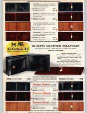 1962 Paper Ad Coach Brand Leather Wallet Billfold Pinseal Alliga 00004000 tor Ostrich