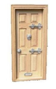 Dolls House Door Furniture Set 1:24 Scale Hinges Knocker Handle & Letterbox