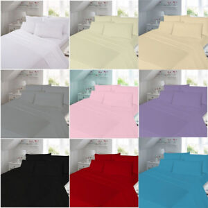 """100% Thermal Brushed Cotton Flannelette 40 CM/16"""" Extra Deep Fitted Sheets"""