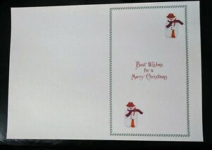 10 A4 Christmas Card Inserts(fits A5 cards)