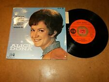 ALICE DONA - EP FRENCH PATHE 651 / LISTEN - YE YE GIRL FRENCH POPCORN