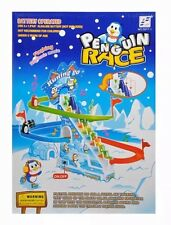 Penguin Race Running Go Climb Up Sliding Down With Flashing Lights + Music Kids