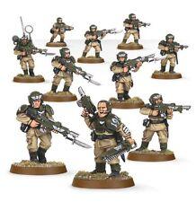 Warhammer 40000 47-17 Astra militarum cadian Squad X 10 Mini Figuras Kit T48