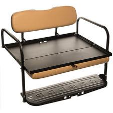 EZGO TXT   CLASSIC Golf Cart Rear Flip Back Folding Seat Kit Cargo Bed   TAN