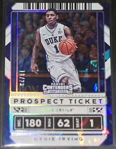 Kyrie Irving 2020 Contenders Draft Picks CRACKED ICE PARALLEL Card (#'d 18/23)