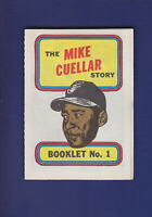 The Mike Cuellar Story Booklet 1970 TOPPS Baseball #1 (NM) Baltimore Orioles