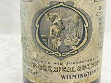 1900's Shepards Fly & Inscet Killer Amber bottle Antique Bed bug, lice ane more