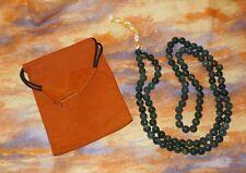 Moss Agate Prayer Mala NEW Bag 8mm Bead Meditation Healing Self esteem Friends