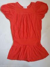 Robes roses manches courtes pour fille de 2 à 16 ans en 100% coton