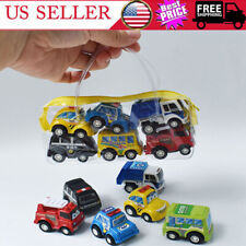 6Pcs Mini Toy Cars Pull Back Car Cartoon Vehicle Party Birthday Kids Boys Gifts
