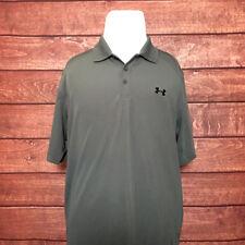 Under Armour HeatGear Mens Short Sleeve Polo Shirt Gray Size Large