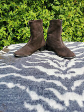 Vintage Boutique Balschmidt Brown Suede Ankle Boots UK 5 EU 38