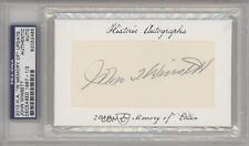 2010 Historic Autographs In Memory Of Cut Update #JOWI John Winsett 1/3 Auto 1s6