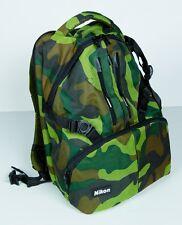 Genuine Nikon NEW DSLR Camera Backpack Army Digital Marine USA D5500 D7200 Body