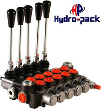 """Hydraulikventil Handsteuerventil 40L Handhebelventil Monoblock 5 fach 3/8"""""""