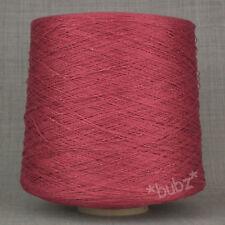 Suave 4 capas Lino Viscosa hilo 500g Cono 10 bolas Scarlet Rojo Tejido De Crochet Tejido